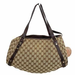 Gucci Shoulder bag Brown canvas